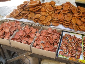 Diyas for sale at a street side stall in Gariahat market, Kolkata