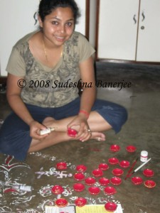 Getting the diyas ready- part I
