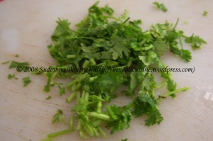 chopped-coriander