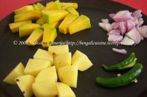 kumror-tarkari-ingredients